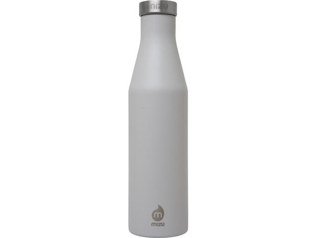 MIZU S6 Geïsoleerde Drinkfles met Roestvrijstalen kap 600ml, enduro light grey